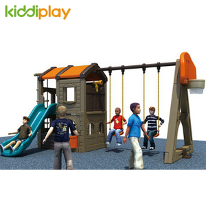 Nature Forest Large Plastic Slide And Swing Playground for Children Toy