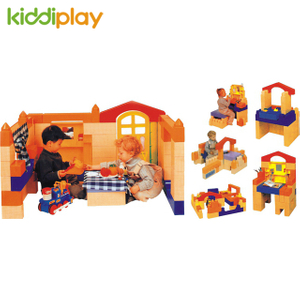 Plastic Building Block, Children Indoor Plastic Building Blocks